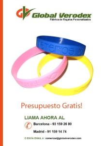 pulseras de silicona persoanlizadas fabrica España