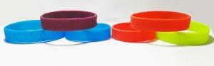 pulseras de silicona bajorelieve