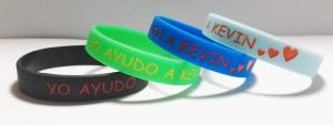 pulseras solidarias de silicona #yoayudoakevin