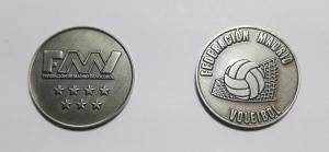 monedas personalizadas federación de volleyball