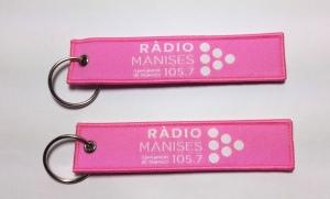 llaveros tela radio manises personalizados