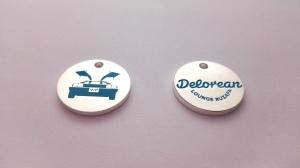 monedas personalizadas colgantes: Delorean