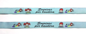 """pulseras de tela personalizadas """"sonrisas por bandera"""""""