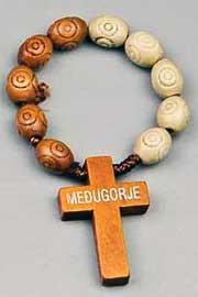 rosarios para el dedo, en madera y otros materiales disponibles