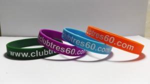 Pulseras Club Tres 60 Personalizadas