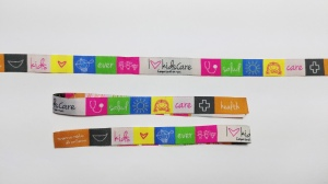 pulseras de tela bordadas