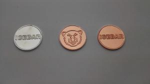monedas publicitarias personalizadas