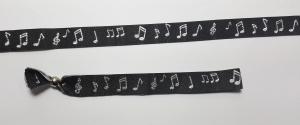 Pulseras de tela Bordas Personalizadas, motivos musicales.