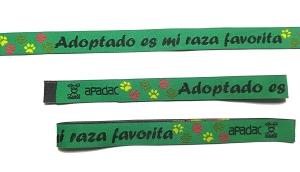 Adoptado es mi Raza Favorita, pulseras de tela personalizadas