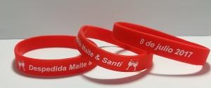 pulseras de silicona para despedidas personalizadas