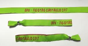 pulseras de tela personalizadas fiestas Cantilejo 2017
