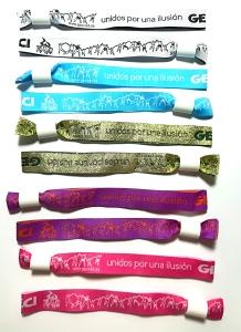 pulseras de tela personalizadas: Unidos por una ilusión
