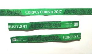 Pulseras tela Bordadas Corpus Christi 2017