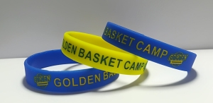 Pulseras de silicona golden basketa camp personalizadas