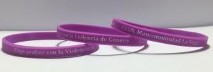 Fabricación pulseras silicona finas contra la violencia de Género